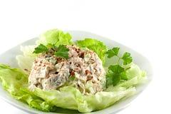 Salade de poulet faite maison Photos libres de droits