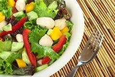 Salade de poulet fraîche Photographie stock