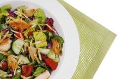 Salade de poulet grillée image libre de droits