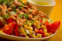 Salade de poulet mélangée Photo libre de droits