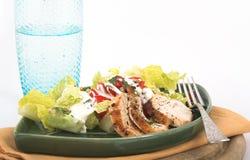 Salade de poulet pour le déjeuner image libre de droits