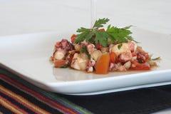 Salade de poulpe Photos libres de droits