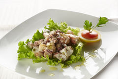 Salade de poulpe photos stock