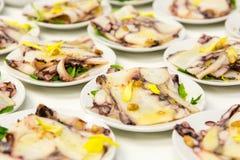 Salade de poulpe photographie stock libre de droits
