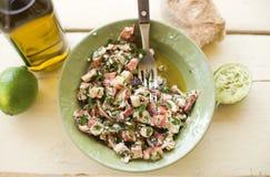 Salade de poulpe Photographie stock