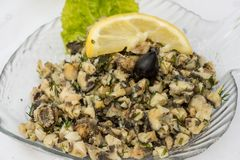 Salade de Rapanas - foyer sélectif Photo libre de droits