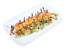 Salade de sarada d'Ebi avec des crevettes Image stock