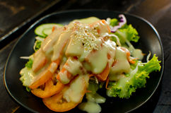 Salade de sashimi Photo libre de droits