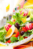 Salade de source Photos stock