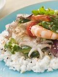 Salade de sushi de fruits de mer Photo stock