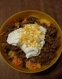 Salade de Taco dans une cuvette Photos libres de droits