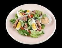 Salade de thon et d'oeufs Photographie stock libre de droits