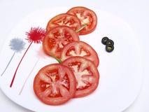 Salade de tomate images libres de droits