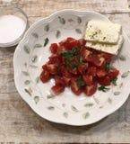 Salade de tomate images stock