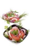 Salade de tomate Photos libres de droits
