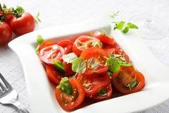 Salade de tomate photo stock