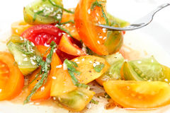 Salade de tomate d'héritage Image stock