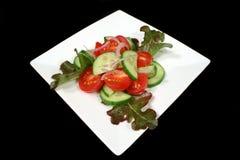 Salade de tomate et de concombre Photographie stock libre de droits