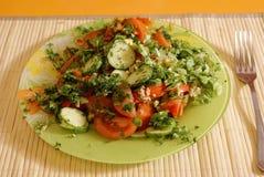 Salade de tomates Photographie stock libre de droits