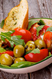 Salade de tomates Photographie stock