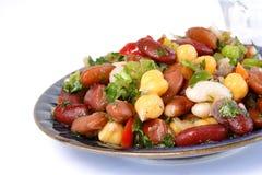 Salade de trois haricots images stock