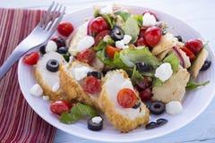 Salade de van het Middenoosten van het Brood met Kip Royalty-vrije Stock Foto