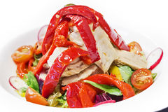 Salade de ventre de thon photographie stock libre de droits