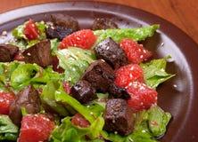 Salade de viande avec le légume et le sésame Photo libre de droits