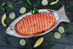 Salade in de vorm van vissen Stock Fotografie