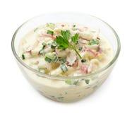 Salade de yaourt de radis Images libres de droits