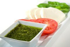 Salade Deconstructed par mozzarella Photographie stock