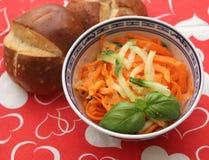 Salade des carottes Image stock