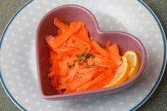Salade des carottes Photos stock