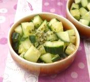 Salade des concombres photo stock