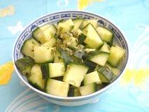 Salade des concombres photographie stock libre de droits
