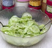 Salade des concombres photos libres de droits