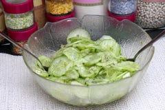 Salade des concombres photo libre de droits