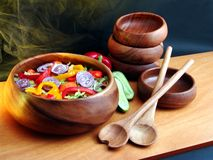Salade des légumes image stock