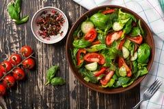 Salade des légumes avec des épices Images libres de droits