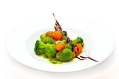 Salade des légumes cuits à la vapeur Photographie stock