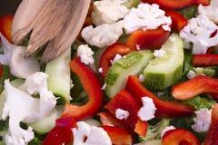 Salade diététique des légumes nutritifs - faibles en calories et du healt Photo stock