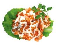 Salade du caviar d'isolement Images stock