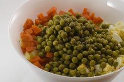 Salade in een witte plaat royalty-vrije stock foto's