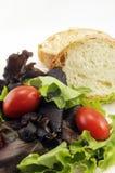 Salade en Brood Stock Fotografie
