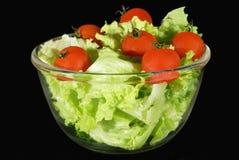 Salade en tomaten stock foto's