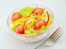 Salade en vork Royalty-vrije Stock Afbeelding
