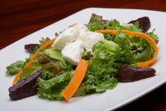 Salade et fromage de laitue image stock