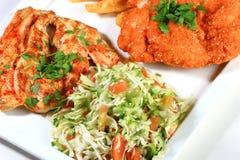Salade et viande photo libre de droits