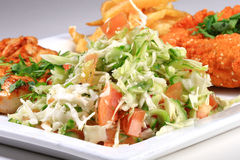 Salade et viande photos stock