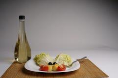 Salade et vinaigre Photographie stock libre de droits